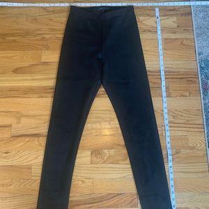 Mock-Suede - black legging/pants